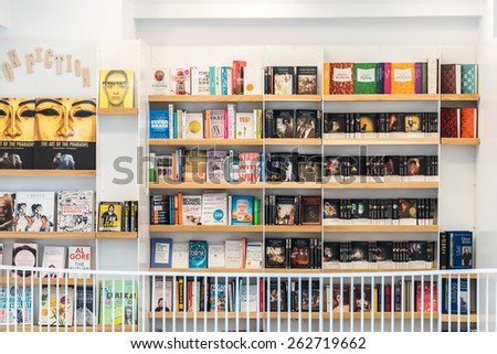 BUCHAREST, ROMANIA - MARCH 22, 2015: Famous Classic Literature Books For Sale On Library Shelf. #262719662