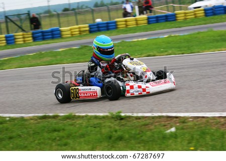 BUCHAREST, ROMANIA - MAY 15: Ayhancan Guven competes in Europe Karting Championship, May 15, 2010, in Bucharest, Romania.