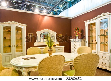 BUCHAREST, ROMANIA - SEPTEMBER 02: Close-up of interiors design stands and home architecture solutions at BIFE, International Furniture Fair on September 02, 2011, Bucharest, Romania