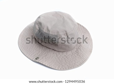69ad8934d73 bucket hat isolated on a white background.