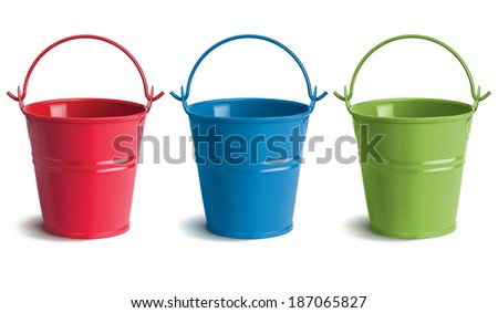 Bucket set Isolated Illustration