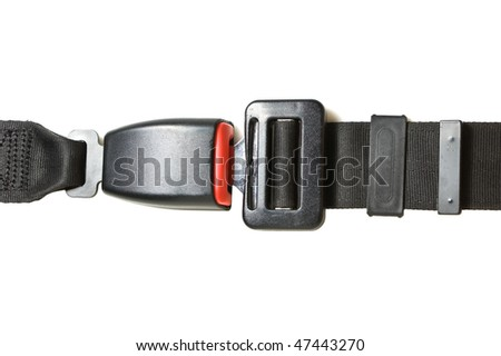 buckle  safety belt isolated on a white background
