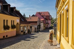 Buckow, Germany - idyllic alley in the old town