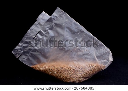 Buckwheat in a package for cooking #287684885