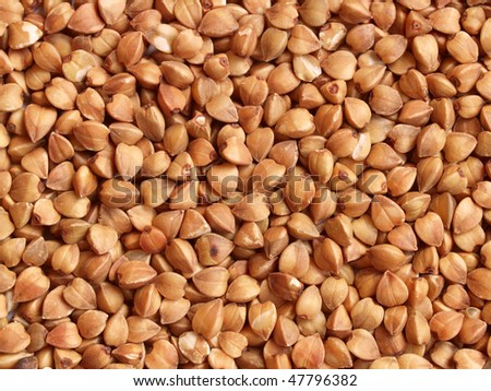 Buckwheat seeds- close up view, can be used as a background
