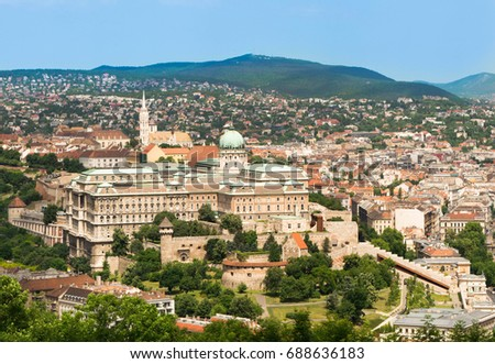 Buda Castle or Royal Palace in Budapest, Hungary - Shutterstock ID 688636183