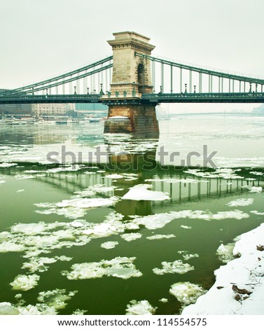 Budapest at winter - stock photo