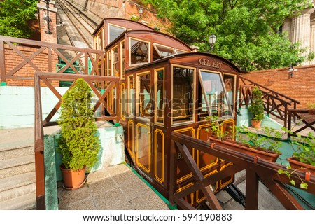 budapest castle hill funicular. ...