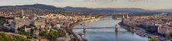 Budapest city panorama with Danube view, Hungary