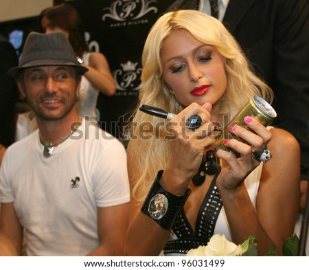 BUDAPEST, HUNGARY -  SEPT 3: Paris Hilton speaks to the media prior to the opening of  Italian clothing retailer Coin\'s first retail venture in Budapest, Hungary, on Thursday, September 3, 2009.