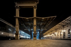Budapest Keleti Train Station, the Eastern Railway Terminal, one of the most important train stations in Budapest, Hungary
