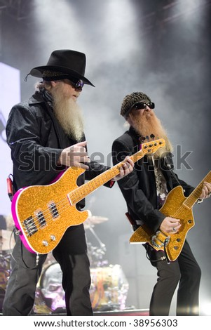 BUDAPEST-OCTOBER 15: ZZ TOP performs on stage at Sportarena October 15, 2009 in Budapest, Hungary