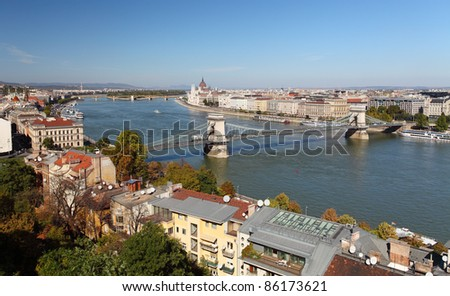 Budapest - panorama from castle