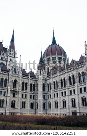 Budapest Parliament on a cloudy day #1285142251