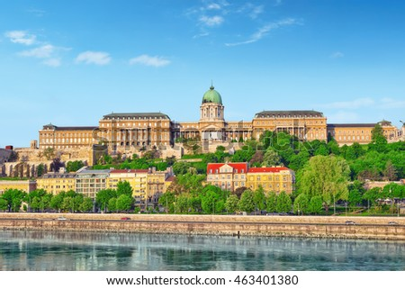 Budapest Royal Castle at morning time. Hungary.