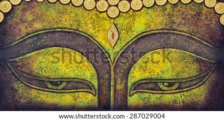 buddha acrylic painting on canvas