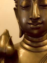 Buddha brass The Wat Pa Dara Pirom, Chiang Mai Thailand