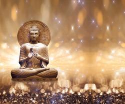 Buddha Brown sparkles star ligt
