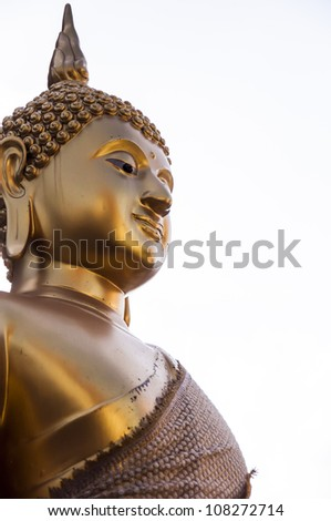 Buddha gold in thailand temple.