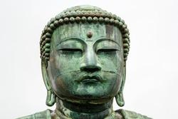Buddha head looking forward