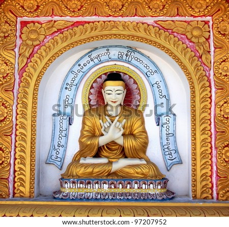 Buddha image in a temple in Asia