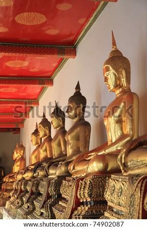 Buddha image in wat pho temple, Bangkok, Thailand