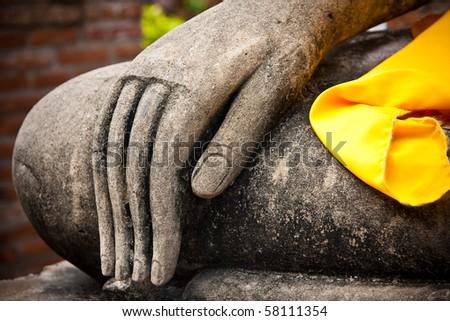 buddha image's hand