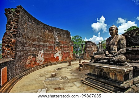 Buddha in Polonnaruwa temple - medieval capital of Ceylon,UNESCO World Heritage Site