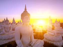 Buddha in temple of Thailand.
