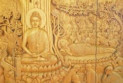 Buddha, native Thai style wood carving