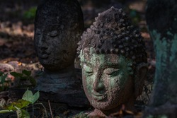 Buddha old statue, antique, vestige, inspired by nature