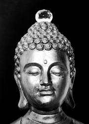 Buddha peace meditation zen blackandwhite