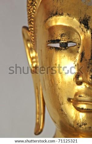Buddha portrait close up of eye