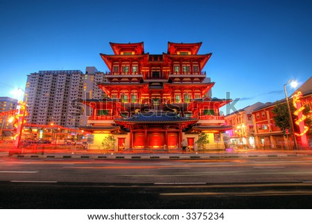 Buddha's Relic Tooth Temple in Singapore Chinatown