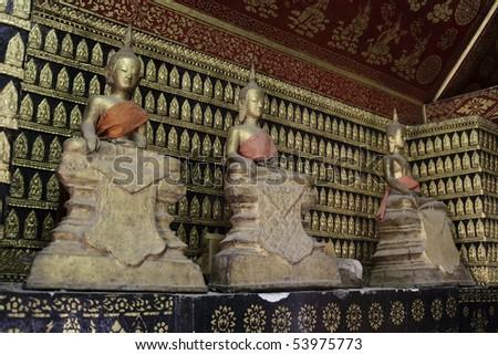 Buddha- Sculptures, Wat Xieng Thong in Luang Prabang, Laos