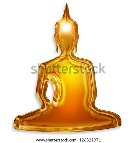 buddha silhouette isolated on white background