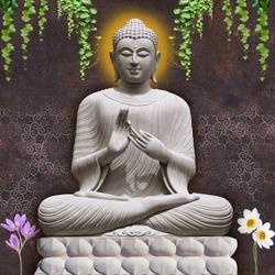 buddha stand leaf flower nameste