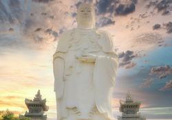 Buddha statue against the sky Giant Buddha statue