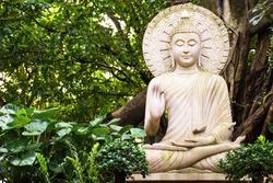 Buddha statue amulets of Buddhism religion