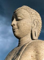 Buddha statue at Ruwanwelisaya or Ruwanweli Maha Seya Stupa, Anuradhapura, Sri Lanka