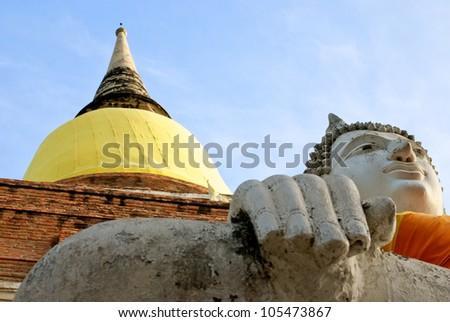 Buddha statue at Yai-Suwannaram ,Ayutthaya,Thailand