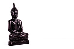 Buddha statue Buddhism religion on white background