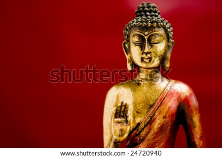 Buddha statue in a meditation position with a zen state of mind
