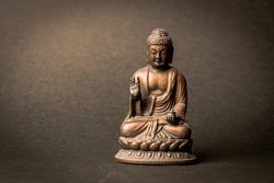 buddha statue in calm rest pose.Shakyamuni Buddha is a spiritual teacher, one of the three world religions. Given the name Siddhartha Gautama  Siddhattha Gotama