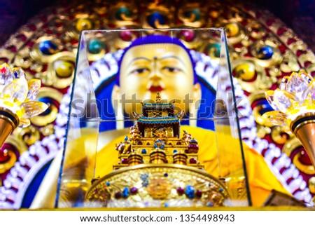Buddha Statue in H. H. Dalai Lama Monastry #1354498943