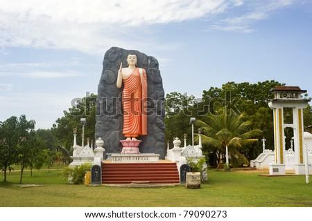Buddha statue in lokal temple . Sri Lanka