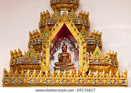 Buddha statue in temple of Thailand