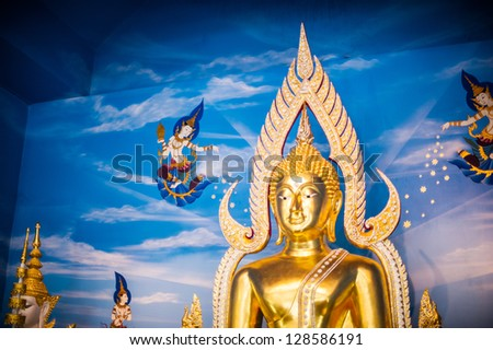 buddha statue in thai temple