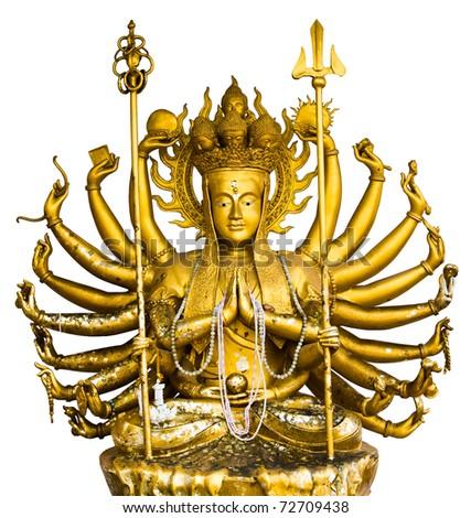 buddha statue in Thailand - stock photo