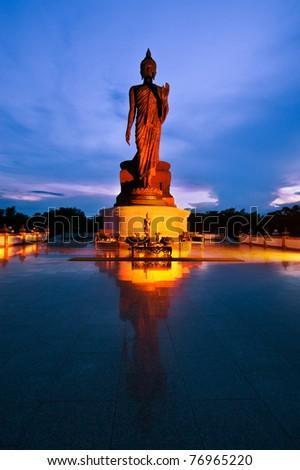 Buddha statue in Thailand at night